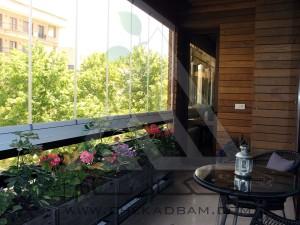 پروژه تراس سبز چکادبام-دروس تهران-فلاورباکس-کاشت گل-ترمووود و چوب پلاستیک
