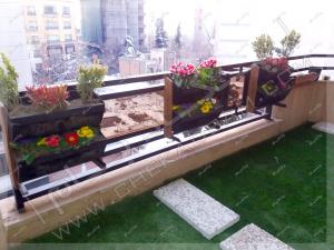 تراس سبز کامرانیه تهران طراحی و تزیین تراس کوچک سبز در تهران