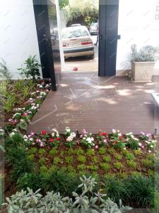 ورودی حیاط و کفپوش چوب پلاستیک الهیه تهران