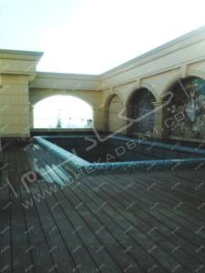 کف پوش چوب پلاست اجرای راهروی چوبی و چوب پلاست  تهران نیاوران wooden decking wpc deck
