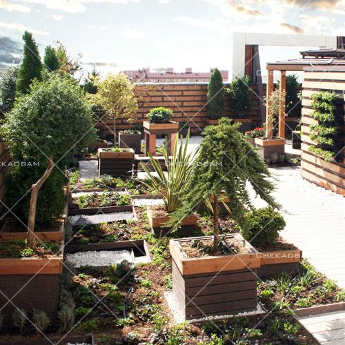 روف گاردن بام سبز roof garden green roof روش ساخت روف گاردن انواع بام سبز