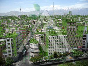 طراحی اجرای روف گاردن در تهران roofgarden greenroof in tehran
