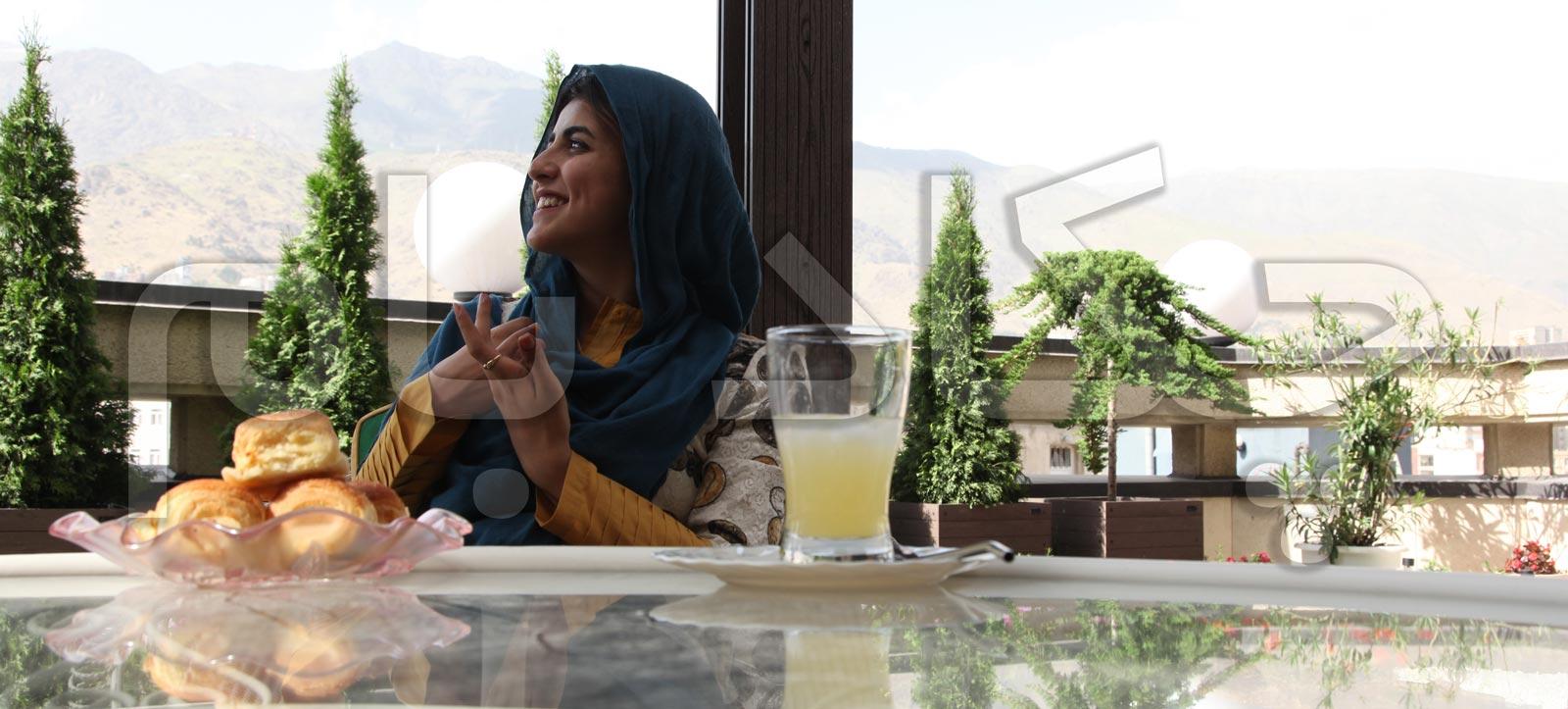 green terrace balcony in tehran iran