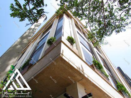 طراحی نمای سبز دیوار سبز گرین وال تهران شهرک غرب ترمووود green wall tehran