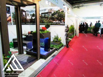 غرفه شرکت چکادبام در پانزدهمین نمایشگاه بین المللی محیط زیست تهران 1395