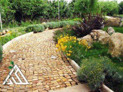 محوطه سازی محوطه آرایی طراحی محوطه ویلای شخصی کردان طراحی فضای سبز green landscape villa design kordan