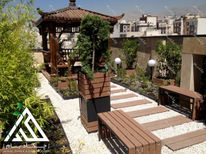 پروژه روف گاردن چکادبام تهران قیطریه طراحی فضای سبز بر روی پشت بام