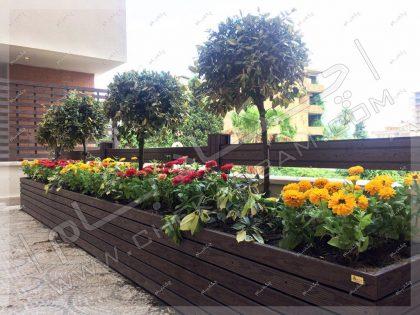 تزئین بالکن طراحی تراس سبز فضای سبز و گل و گیاه در تراس
