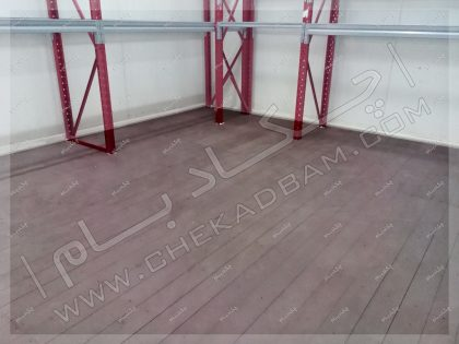 نمای کف پوش چوبی چوب پلاستیک شرکت دارویی آریوژن کرج