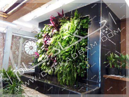 دیوار سبز داخلی گونه های متنوع لابی ساختمان اتاق بازرگانی، صنایع، معادن و کشاورزی تهران خیابان وزرا