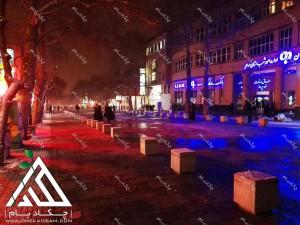فلاورباکس فضای باز شهرداری همدان فلاورباکس گلدان خیابانی