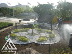 طراحی و اجرای پروژه محوطه سازی پارک سراب کوثر قروه کردستان ایران محوطه آرایی
