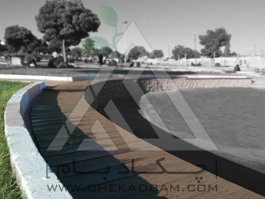 پل چوب پلاست پارک اسلام آباد زنجان طراحی فضای سبز محوطه آرایی طراحی محوطه طراحی حیاط لابی محوطه سازی پلان محوطه باغ و ویلا