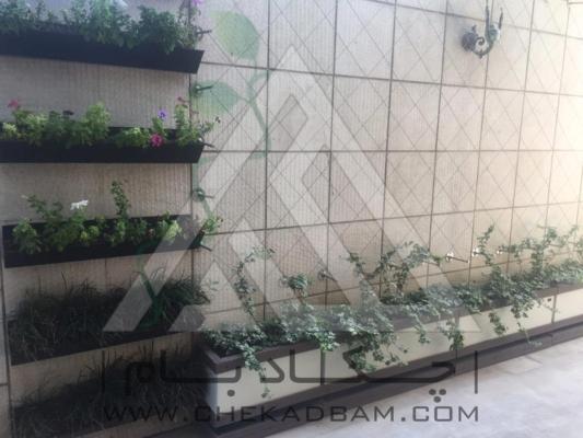 محوطه آرایی حیاط دیوار سبز کابلی مدولار