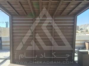 اجرای آلاچیق چوبی فلزی چوب پلاست ترموود ارزان