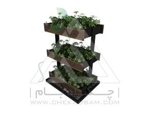 باغچه طبقاتی سه طبقه کاشت سبزیجات