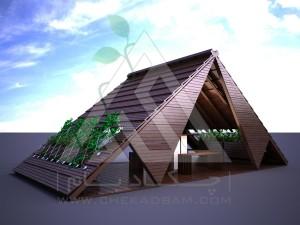 آلاچیق مدرن چوب پلاست طرح قشقایی تیپ 2