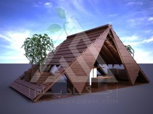 آلاچیق مدرن چوب پلاست طرح قشقایی تیپ 3