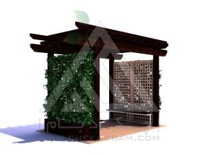 آلاچیق مدرن چوب پلاست طرح سبز