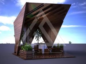 آلاچیق مدرن چوب پلاست طرح ستاره
