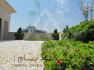 نمونه طراحی روف گاردن قیمت بام سبز ایرانی شن تزئینی