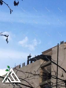 اجرای پروژه روف گاردن در محله فرمانیه تهران با مصالح چوب پلاست
