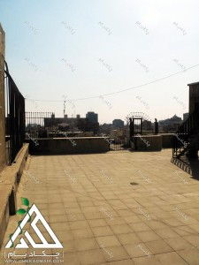 پروژه روف گاردن شرکت کالای پتروشیمی پشت بام قبل از اجرای پروژه بام سبز