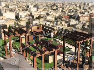 اجرای روف گاردن و فضای سبز روی پشت بام تهران قیطریه