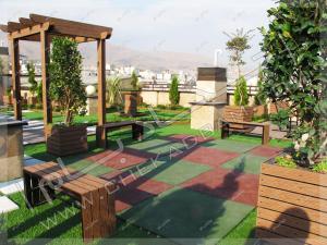 فضای بازی روی پشت بام در پروژه روف گاردن