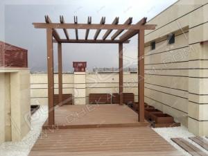 پرگولا چوبی در کرمان