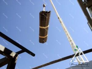 مراحل اجرای روف گاردن بام سبز چوب پلاست حمل مصالح با جرثقیل  نانو الوند سیمین دشت کرج