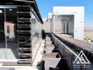 مراحل اجرا و ساخت روف گاردن بام سبز پشت بام نانو الوند سیمین دشت کرج فلاورباکس آتریوم آلاچیق