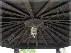 جزئیات اجرای سقف آلاچیق چوبی