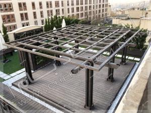 پرگولای خاص در پروژه روف گاردن رسعادت آباد تهران