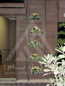 روف گاردن-بام سبز-چوب پلاست-نردبان چوبی-آلاچیق-فلاورباکس-دیوار سبز-مدولار-نمای چوبی