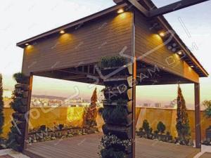 آتریوم چکادبام بر روی پشت بام مجتمع مسکونی، فضایی برای استراحت در روف گاردن، دیباجی تهران