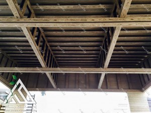 دیتیل اجرای آلاچیق با کاور چوب پلاست آلاچیق چوبی wpc