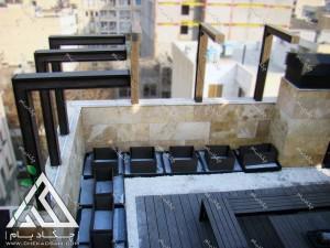 نمای بالا از پروژه روف گاردن در تهران ایران نمای شهر