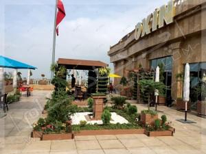 فضای سبز تراس مجتمع تجاری اکسین شمال آمل