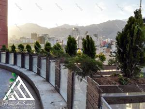 فلاورباکس های چوبی فلزی چکادبام لبه تراس تالار صدر تهران