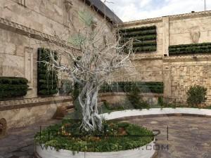 طراحی تراس تالار پذیرایی تهرانپارس اجرای دیوار سبز مدولار فلاورباکس آلاچیق