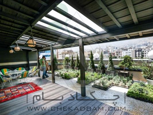پوشش سقف با نورگیر